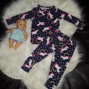 Carter's 9M unicorn pj matching outfit